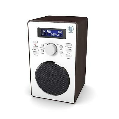 Majority Barton II Compact Digital DAB+ DAB FM Radio Walnut Effect