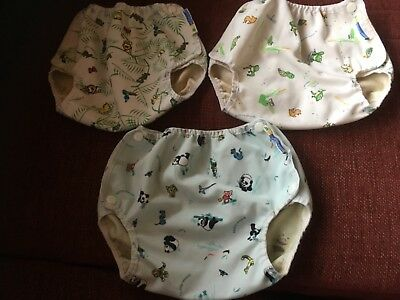 Set of 3 Mother-ease Air Flow medium nappy wraps - good used condition.