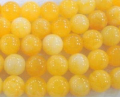 """8mm AAA natural Yellow Chalcedony Gemstone Loose Beads 15"""" LL001"""