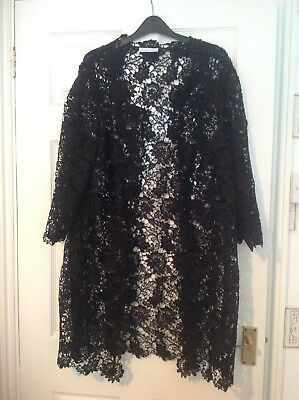 Black Lace Jacket By Jacques Vert