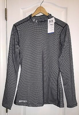 NWT Under Armour Coldgear Stars Long Sleeve Mock Compression Top Shirt Women's L