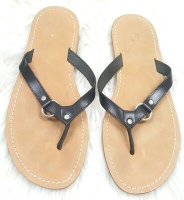 e76ec10d67c0 Gap Womens Size 8 Tan Brown And Black Flip Flops Thongs Sandals Slip On  Shoes