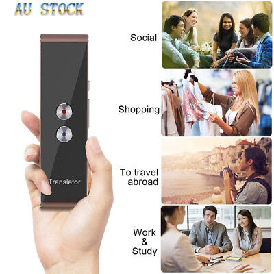 Portable Smart Wireless 2Way Real Time Multi-Language Instant Voice Translator