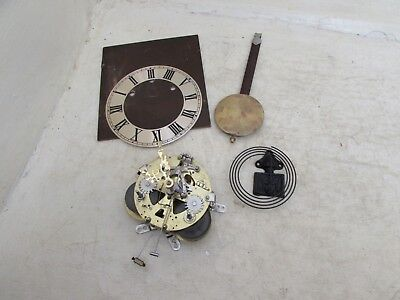 Working Korean 31 Day Wall Clock Movement With Face, Pendulum & Gong