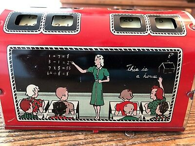 """Vintage 1940'-50""""s? childs metal adding machine. great 4 collector or math teach"""