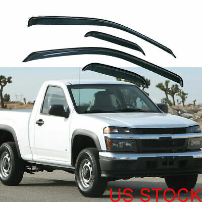 4PC Door Window Visors Vent for Chevy Colorado GMC Canyon Extended Cab 2004-2010
