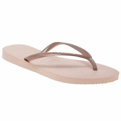 23fc97a0209f NEW WOMENS HAVAIANAS WHITE SLIM RUBBER SANDALS FLATS -  38.95