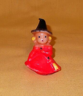 Vintage Gurley Halloween Witch Girl Candle 3""