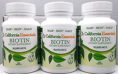 BIOTIN-10,000mcg PLUS CALCIUM-HEALTHY HAIR,SKIN,NAILS-FRESH-SEALED-FREE SHIP