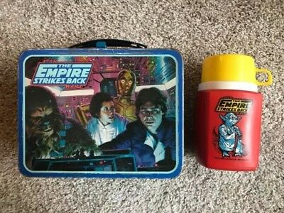 Vintage Star Wars The Empire Strikes Back Metal Lunch Box With Red Thermos 1980
