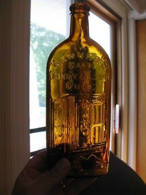 Light Amber Warner's Safe Kidney & Liver Cure Rochester N.Y, 9 3/4""