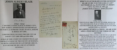 1st DISTRICT COURT JUDGE JERSEY CITY NJ HUDSON COUNTY COUNSEL LETTER SIGNED 1901