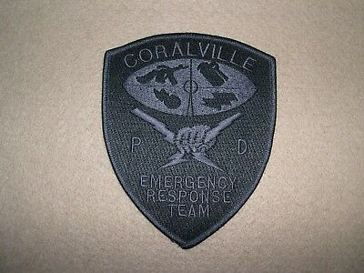 Coralville Police (E.r.t.) Emergency Response Team