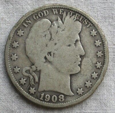 1908-S Barber Silver Half Dollar.....Better Price **FREE SHIPPING*