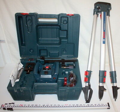 Bosch GRL 240 HV Self-Leveling Rotary Laser Kit in Hard Case NICE FREE SHIP US48