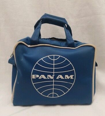 Pan Am Toiletry Bag Vintage Pan American Airlines Blue White Nylon Travel Pouch
