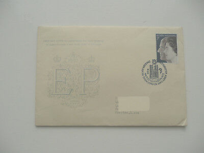 GB 1972 Royal Silver Wedding Embossed FDCover Westminster Abbey Postmark