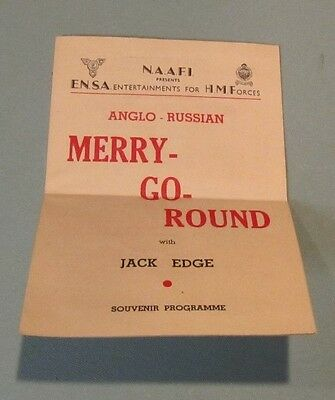 1945 WWII ENSA His Majesty's Forces Anglo-Russian Merry Go Round Program J Edge