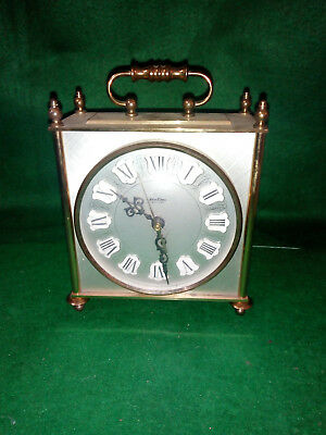 Vintage Brass Bentima Battery Mantle Or Carriage Clock