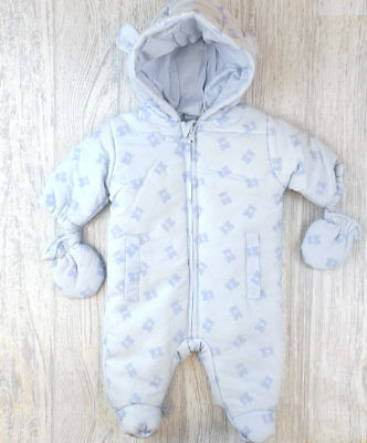 8211ba01ad7f BABY SNOWSUIT ALL In One Soft Cotton Jersey Boys and Girls Newborn 0 ...