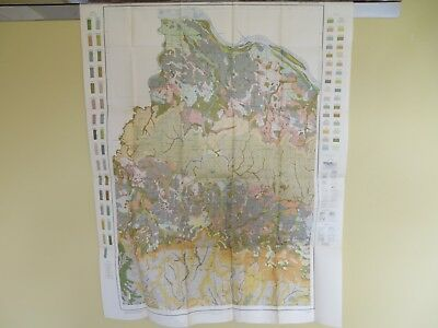 "1914 Antique Map Alabama Lawrence County Muscle Shoals Courtland 30 X 39"" #8846"