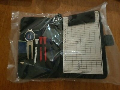 PGA Tour Real Leather Golf Organiser With Scorecard & Accessories