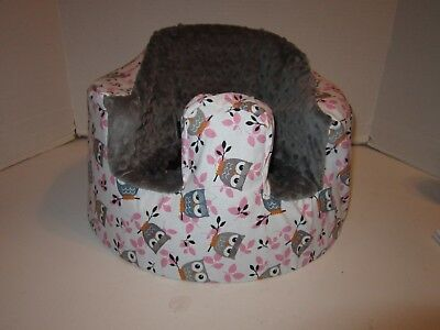 New Bumbo Floor Seat COVER • Owl on Branch • Safety Strap Ready