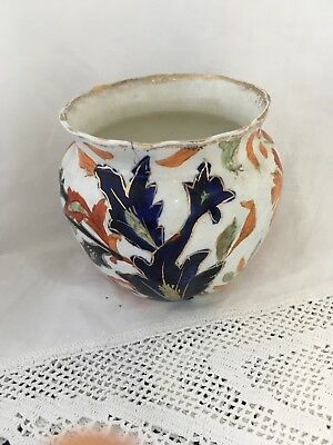Antique 1905 Ridgeways Fantasia pottery gaudy Welsh vase
