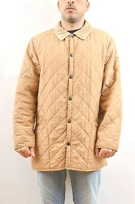 Barbour Men's eskdale jacket quilted coat Tan Beige Classic UK size L 44/46 NICE