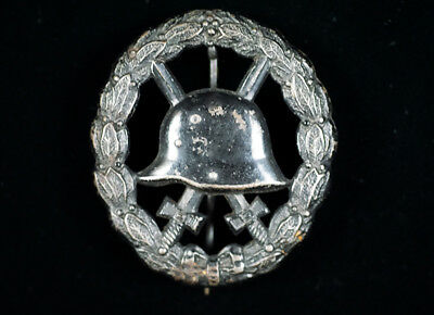 Wwi German Army 'cut-Out' Steel Wound Badge -1914-1918