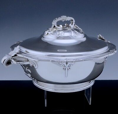 Incredble Quality Emile Puiforcat French 950 Sterling Silver Tureen Entree Dish