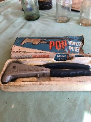 Antique Vintage Model TT55 Riveting Pliers Fully Boxed Rare