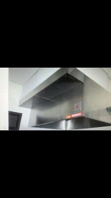 Brand New CaptiveAire 6ft Commercial Vent Hood System with 2 Turbo Fans
