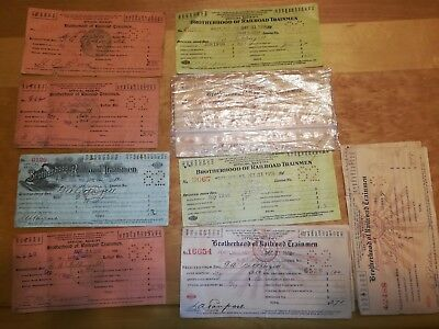 Brotherhood of Railroad Trainmen Union dues Official Receipts