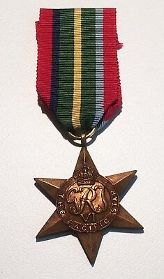 WW2 British/Canadian Pacific Star with ribbon.
