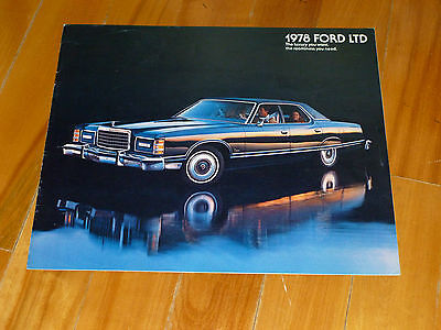 Ltd Landau Ford 1978 Wagons Brochure Catalog Original Vintage Dealer Sales