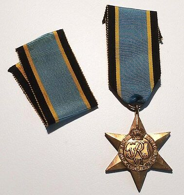 WW2 British/Candian Air Crew Europe Star with extra length of ribbon