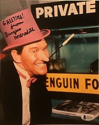 Batman Burgess Meredith Penguin 8 x 10 Beckett authenticated