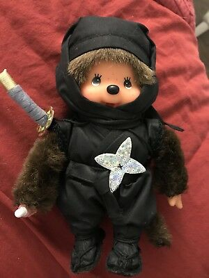 Sekiguchi Monchhichi Monchichi Rare Black Ninja  New Without Tag