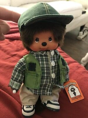 Sekiguchi Monchhichi Monchichi Rare German Fishing Doll Nwt