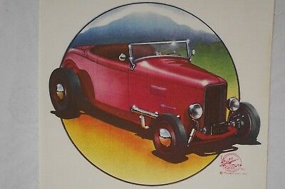 Stanley Mouse Monster Studios HOT ROD PRINTS  1973