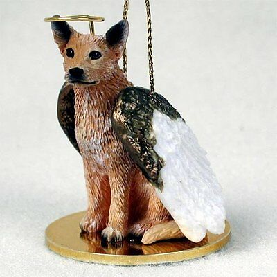 AUSTRALIAN CATTLE DOG RED ANGEL DOG CHRISTMAS ORNAMENT HOLIDAY Figurine Statue