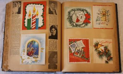 Large Northern Vermont Scrapbook 1950-70s Greeting Cards, Clippings, 400+ Items