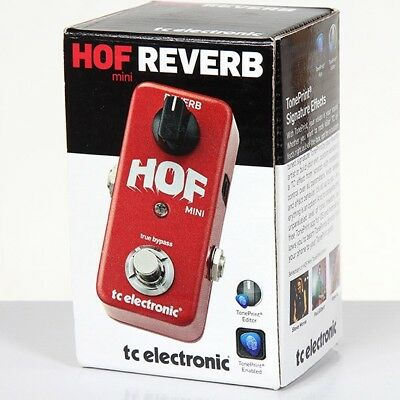 TC Electronic NEW HALL OF FAME MINI REVERB GUITAR PEDAL FREE PRIORITY SHIP!