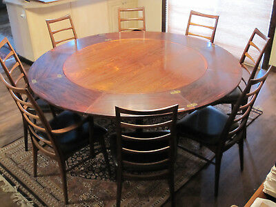 Fantastic Rosewood Dining Table Set W 8 Koefoed Lis Chairs