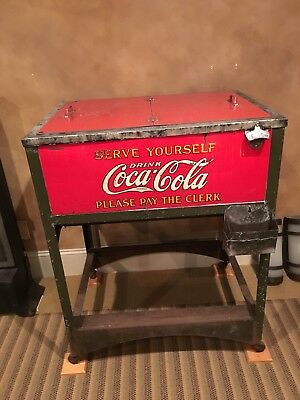 Early 1920's coca cola Glascock  Cooler