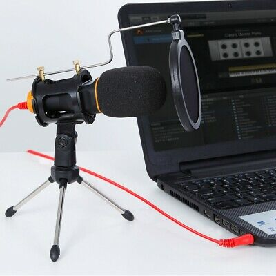 TONOR Condenser Microphone Mic 3.5mm with Tripod Stand for PC Gaming Recording