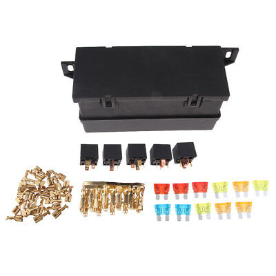 Universal 11 Ways Auto Fuse Box Assembly with 5Pin Relay