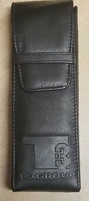 Black Genuine Leather cigar case, holds 3 cigars