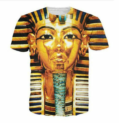 Funny 3D Print Casual King Tut Unisex Graphic Tee Egyptian S-5XL T-Shirt TR4